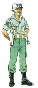 (6) Legionario de la Policía Militar. 1970