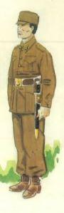 (3) Soldado de Artillería en uniforme de paseo. 1936