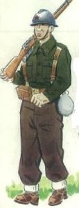 (5) Soldado de infantería en uniforme de campaña. 1937