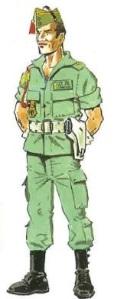 (2) Teniente en Uniforme de Verano.