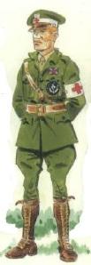 (10) Camillero de la Cruz Roja escocesa.