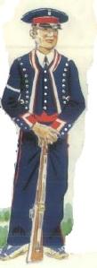 (6) Mozo de Escuadra en uniforme de armas.