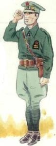 (3) Teniente carabinero en uniforme de campaña.