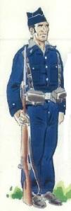 (4) miembro de la Guardia  de Asalto en uniforme de campaña.