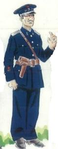 (5) Teniente en uniforme de servicio.