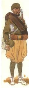 (3) Soldado moro en uniforme de campaña en invierno.