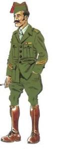 (2) Sargento en uniforme de Paseo.