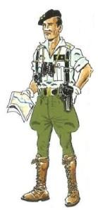 (4) Teniente de la Bandera de Carros Ligeros de La Legión.