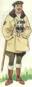 (2) Teniente Coronel habilitado en uniforme de campaña.