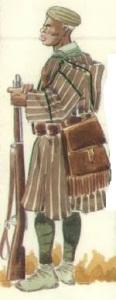 (1) Askari en uniforme de campaña.