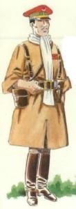 (2) Teniente en uniforme de campaña. 1936
