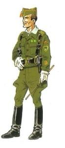 (5) Teniente en Uniforme de Servicio. 1938