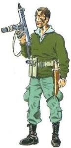 (5) Legionario de la S.O.E. en Uniforme de Acción Nocturna.