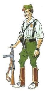 (7) Brigada en Uniforme de Campaña en Verano.