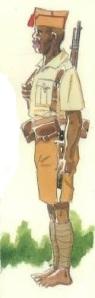 (5) Soldado indígena de Guinea Ecuatorial.
