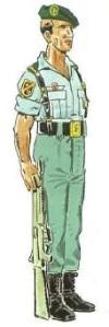 (1) Cabo 1º en Uniforme de Formación en Verano. 1982