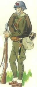 (3) Soldado gallego en uniforme de campaña.