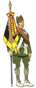 (2) Legionario de 1ª. Porta-guión de la 1ª Bandera. 1922
