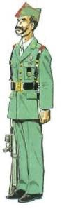 (3) Cabo en Uniforme de Gala en Formación. 1991