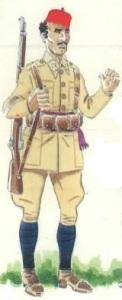 (3) Sargento, Cazadores de África; en uniforme de parada.