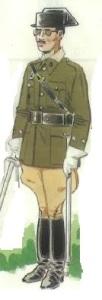 (2) Teniente de la Compañía de Honores de la Guardia Civil en uniforme de gala.