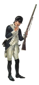 Soldado estadounidense, Infantería ligera, 1780.