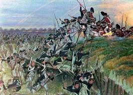Asalto americano a posiciones inglesas.