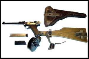 Luger P08/17 modelo para los servidores de artillería y ametralladoras.