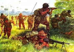 Paracaidistas franceses en Dien Bien Phu.