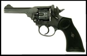 Revolver Webley Mk IV .38/200 Versión fabricada desde los años 30 hasta los 60.