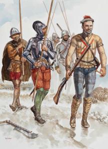 Infantería imperial en la batalla de Muhlberg.