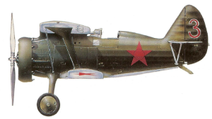 Polikarpov I-15 durante 1935, Ejército Rojo.