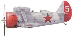 """Polikarpov I-153 """"Chaika"""", Unión Soviética, 1938-39."""
