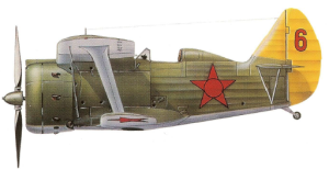 "Polikarpov I-153 ""Chaika"", Unión Soviética, Mar Negro."