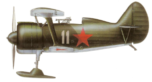 Polikarpov I-15biscon esquíes, Unión Soviética, 1938-39.