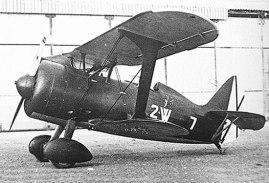 """Polikarpov I-15 """"Super Chato"""" capturado por los nacionales. Tras la guerra civil, formaran parte del Ejercito del Aire Español hasta 1953."""