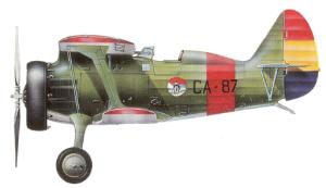 "Polikarpov I-15 ""Chato"", CA-87, Cartagena, 1939."