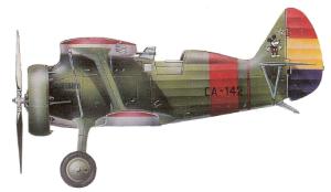 """Polikarpov I-15 """"chato"""" republicano de Vicente Castillo, 1938."""