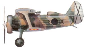 "Polikarpov I-15 ""Curtiss"", franquista. Getafe 1940-1947."