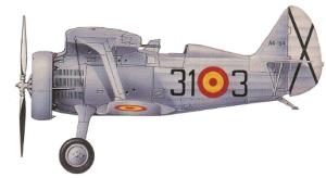 "Polikarpov I-15 ""Curtiss"", Ejército del Aire, Getafe, 1941-53."