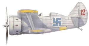 Polikarpov I-153, Finlandia, 1941-45.