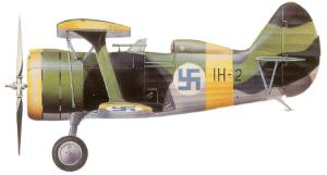 Polikarpov I-15bis, Finlandia, 1941-45.