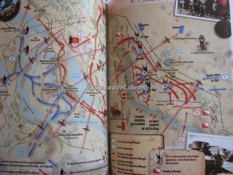 Fotografía del interior del libro en la que aparecen mapas a todo color. Fuente: el cazador de libros.