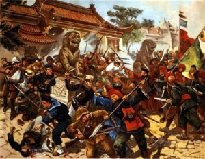 1900-intl-forces-including-us-marines-enter-beijing-to-put-down-boxer-rebellion-which-was-aimed-at-ridding-china-of-foreigners