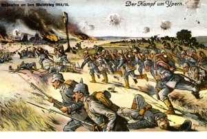 battle-of-ypres-as-shown-on-a-german-postcard-which-mentions-both-ba29jm
