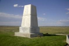 Monumentos a los caídos en Little Bighorn.